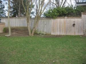 Katorji left rear fence before