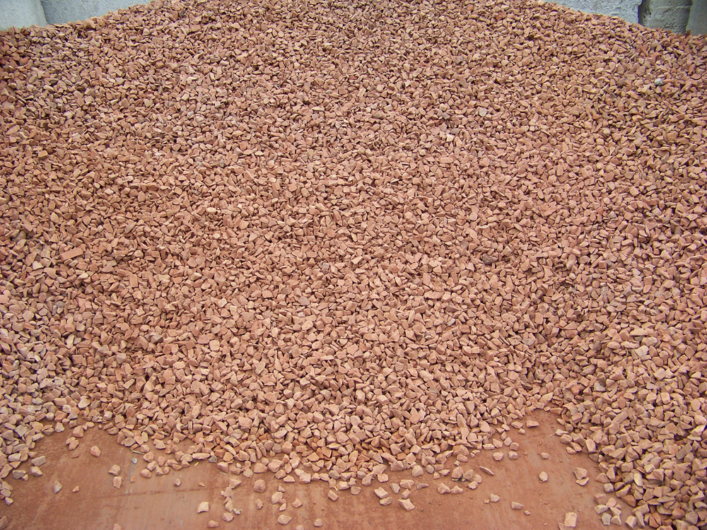 Red Crushed Granite Stone : Ohs landscape group order stone on line