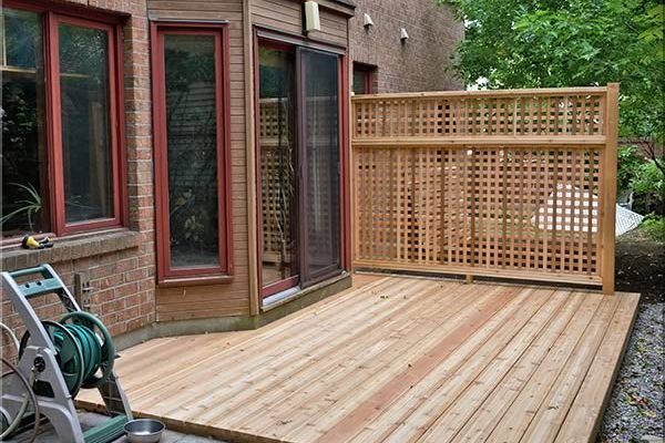 Cedar Deck and screen