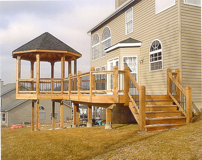 deck and gazebo